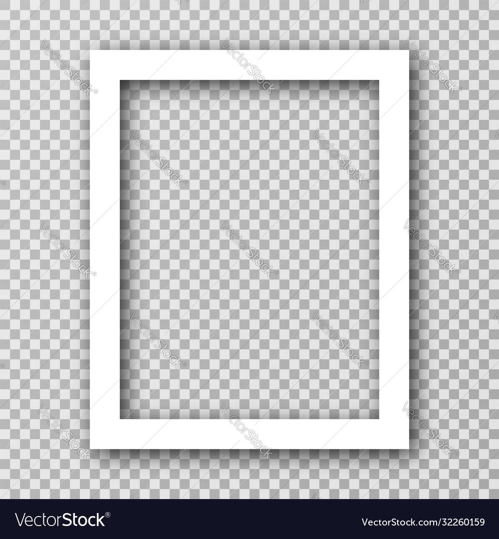 White photo frame for social media with white