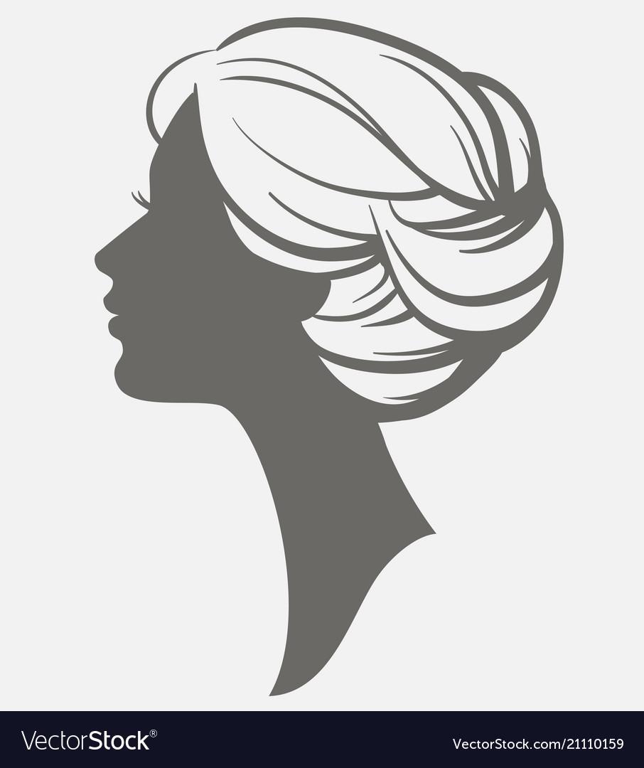 Woman face silhouette female head