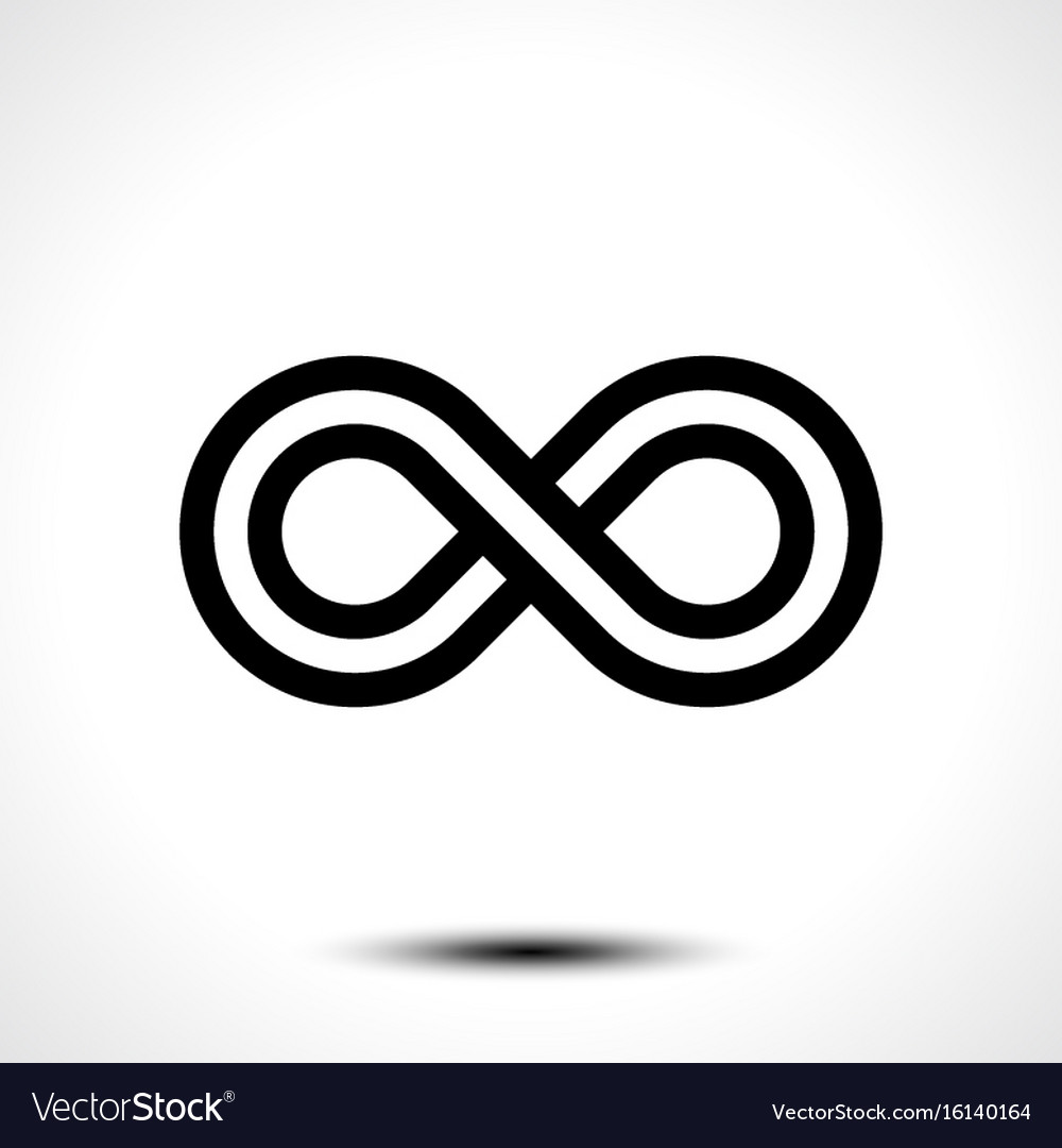 Infinity Symbol Icon Royalty Free Vector Image