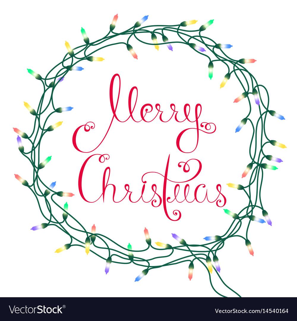 merry christmas garland vector image