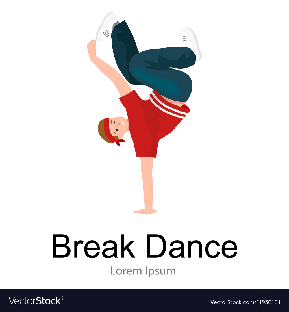 Teenager boy dancing hip hop style isolated
