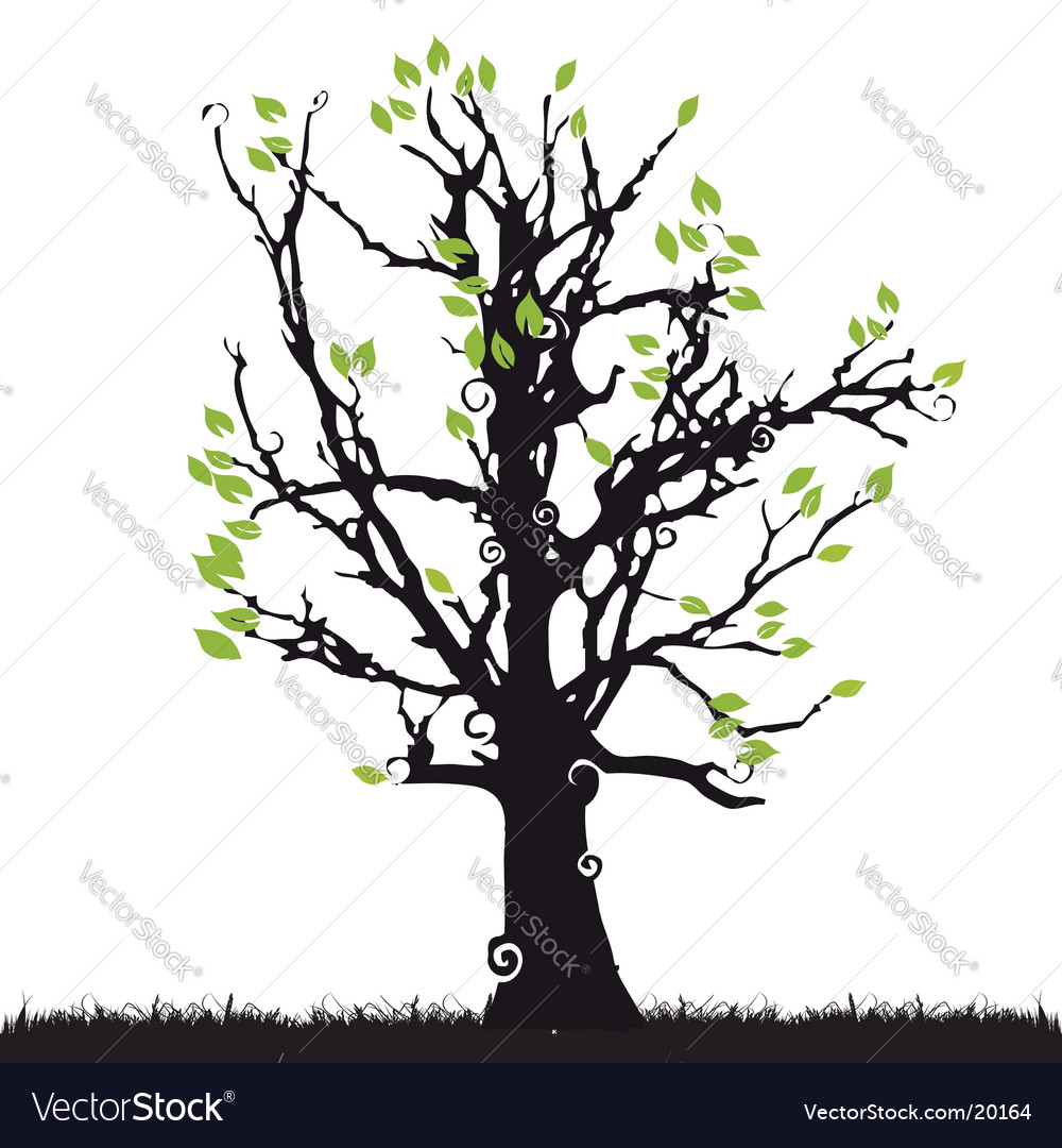 tree silhouette royalty free vector image vectorstock rh vectorstock com tree silhouette vector free tree silhouette vector download