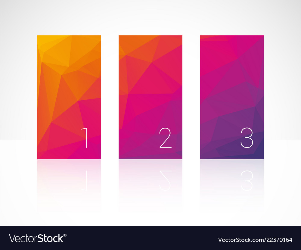 Vertical color bars with numbers