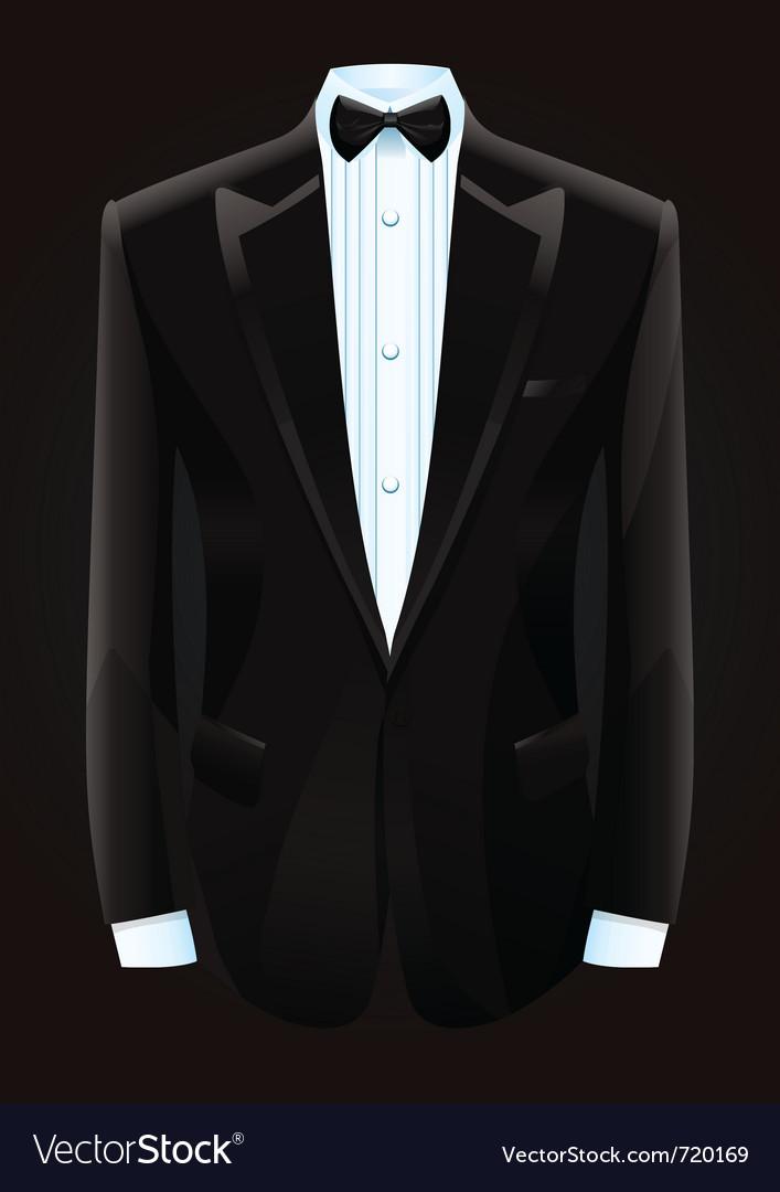 Black tuxedo and bow tie