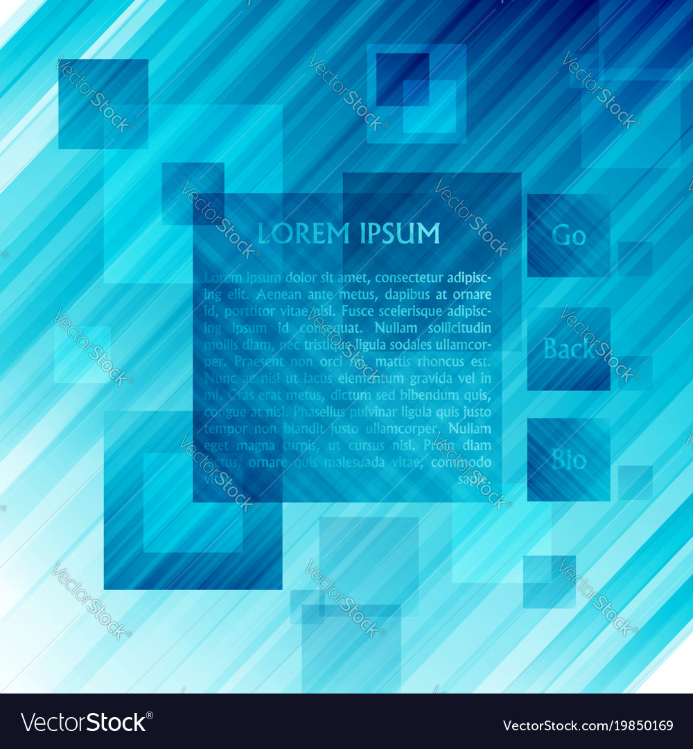 Blue template for web