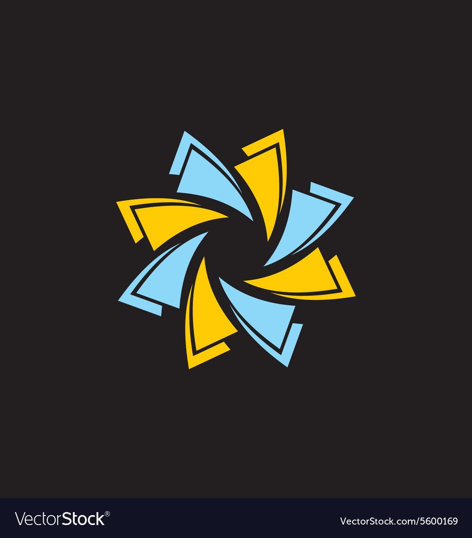Circle technology abstract logo