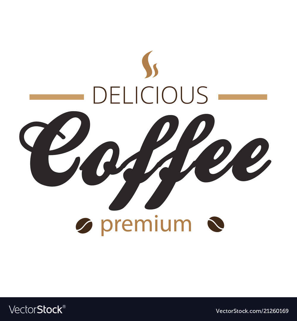 Delicious coffee premium white background i