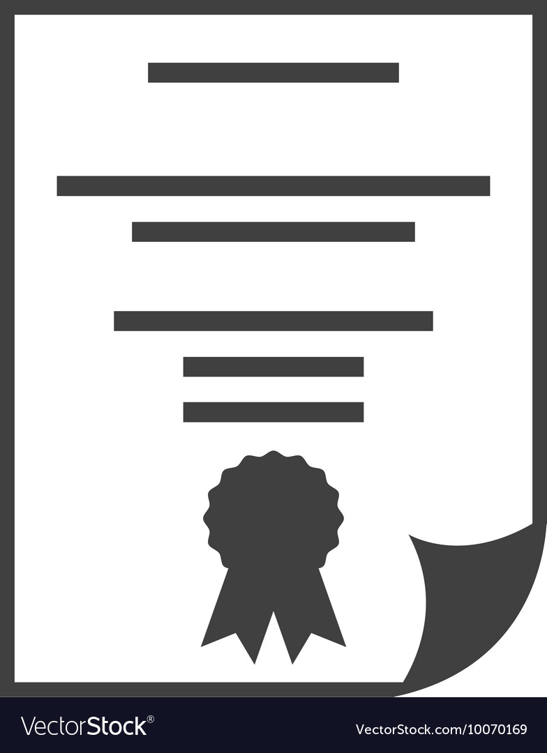Diploma certificate paper icon