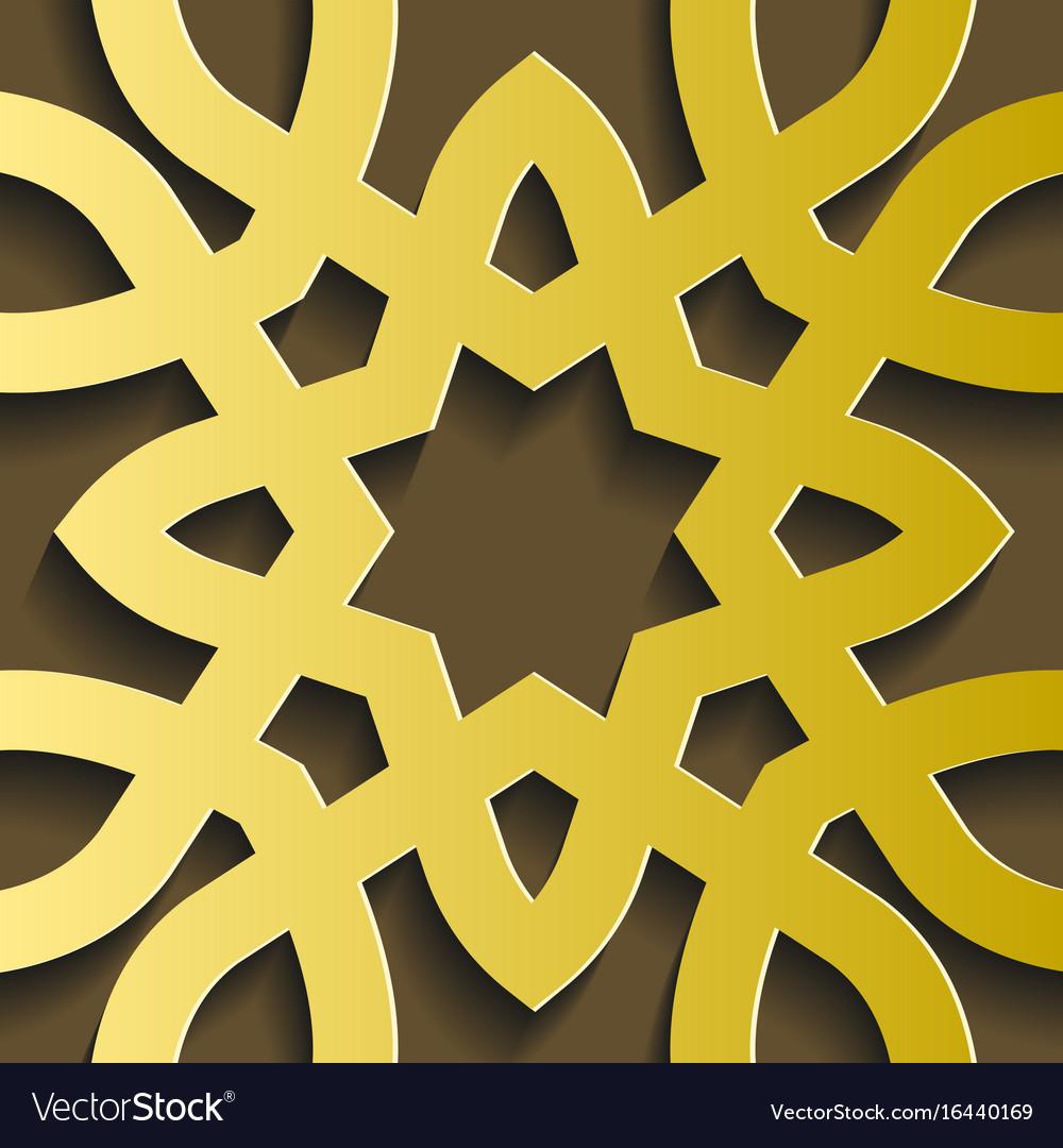 Islamic ornament circular 3d ramadan round