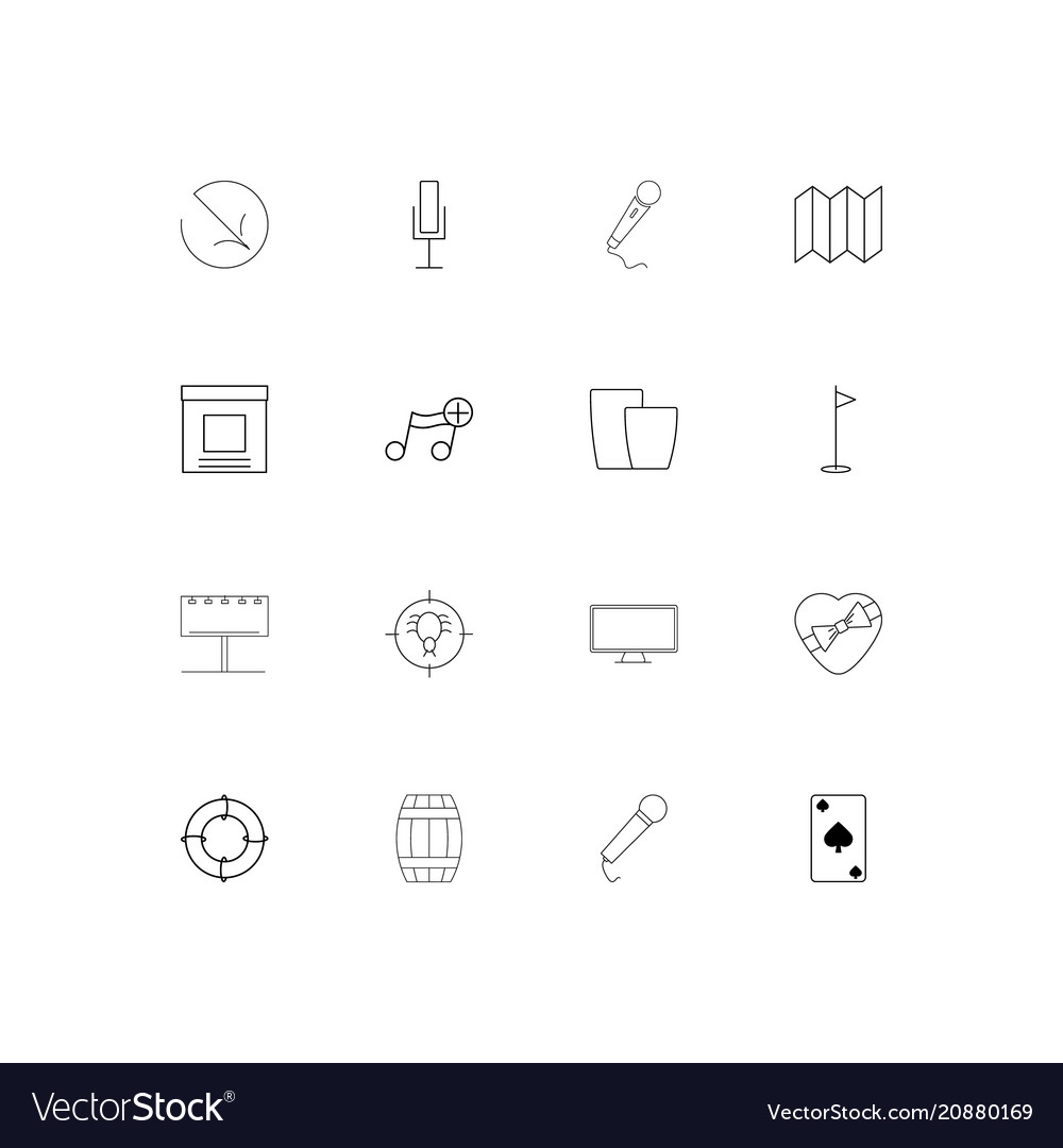 Lifestyle linear thin icons set outlined simple