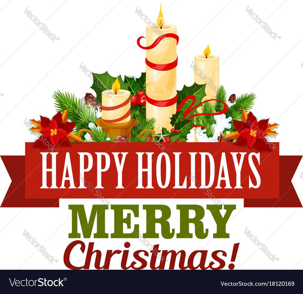 Christmas Holidays Icon.Merry Christmas Holiday Greeting Card Icon