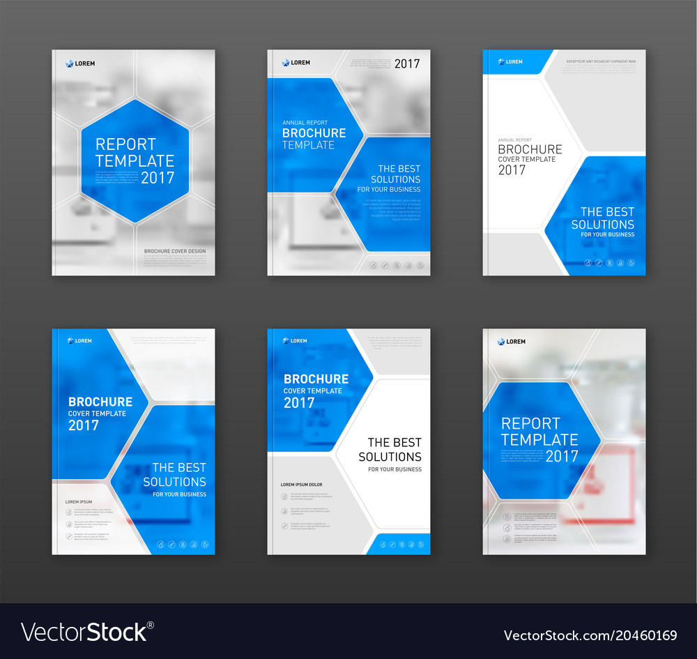 Pharmaceutical Brochure Cover Templates Set Vector Image - Pricing flyer template