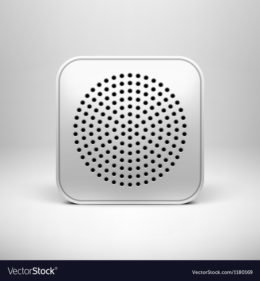 Technology App Icon Blank Template vector image