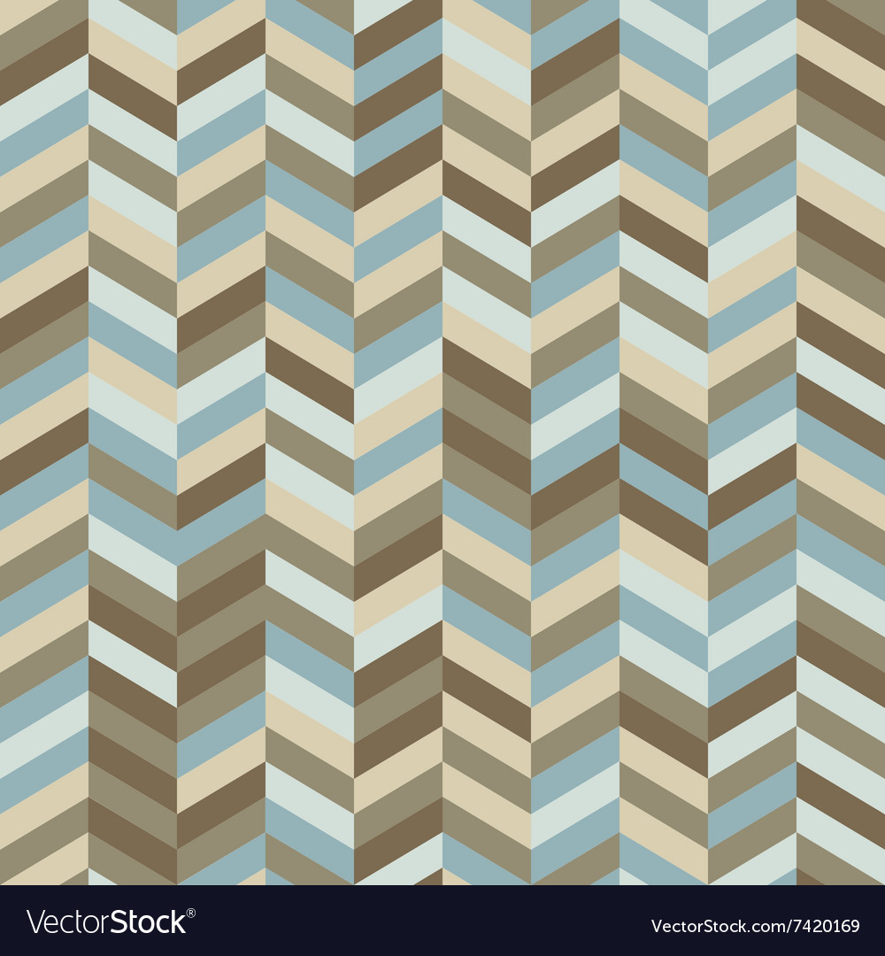 Zig Zag Background in Trendy Hipster Colors vector image