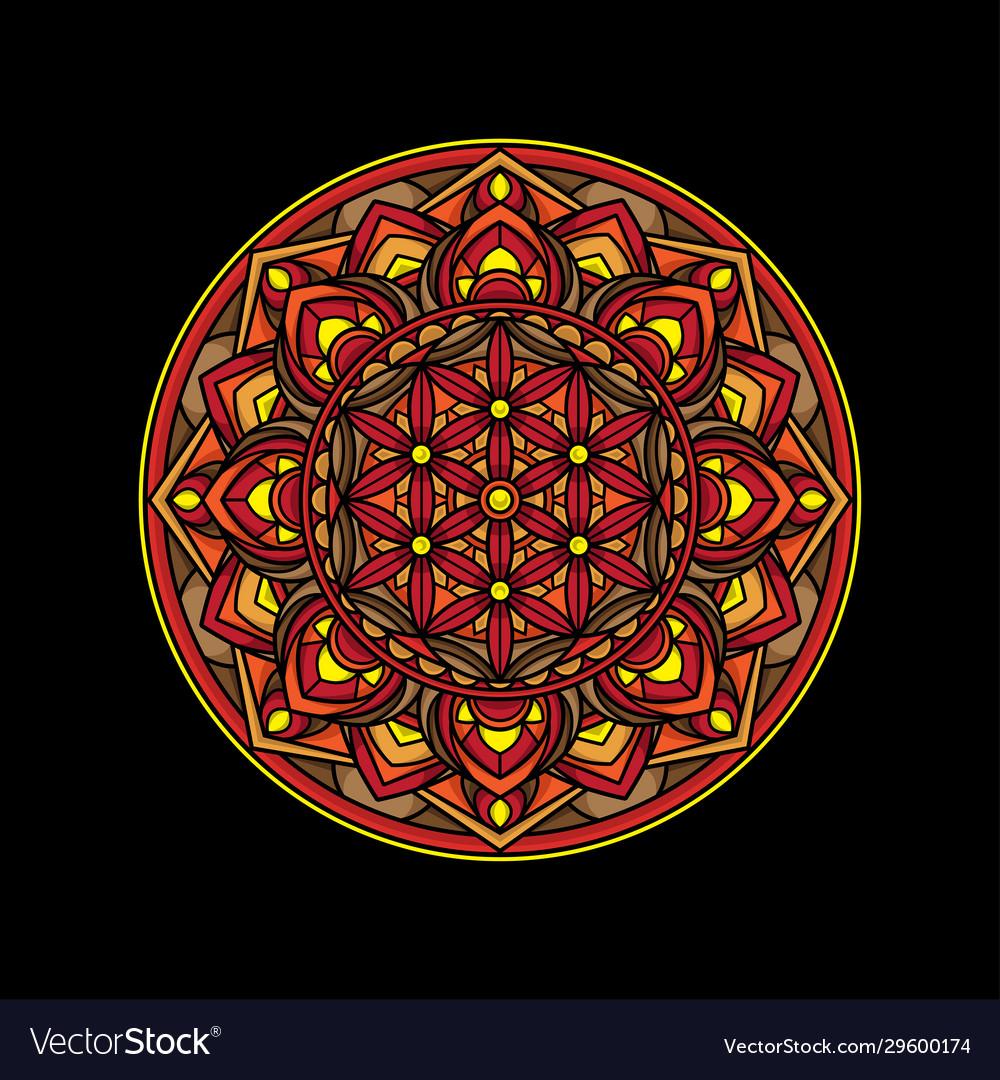 Beautiful simple mandala design
