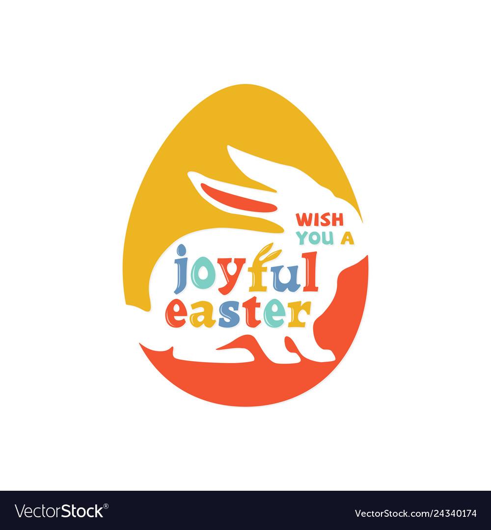 Colorful joyful easter lettering