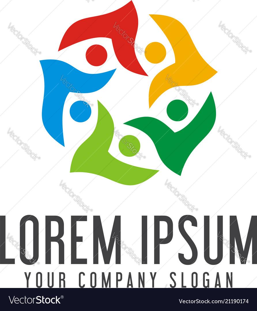 Communication group people logos community logo
