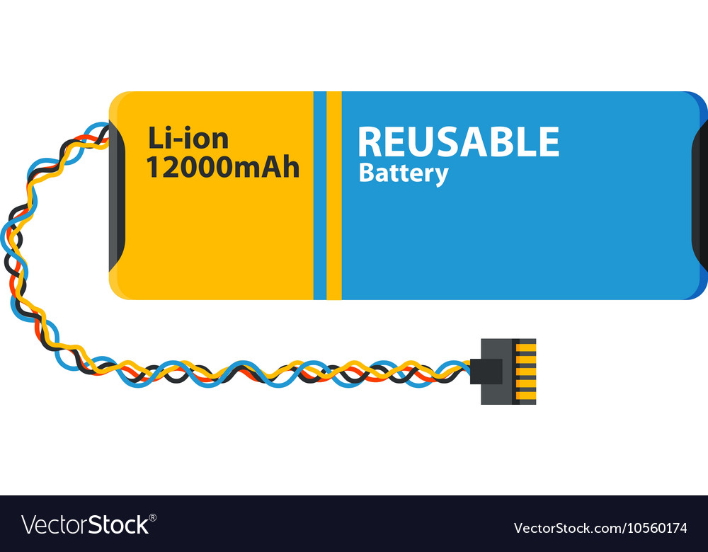 Computer batterie icon isolated