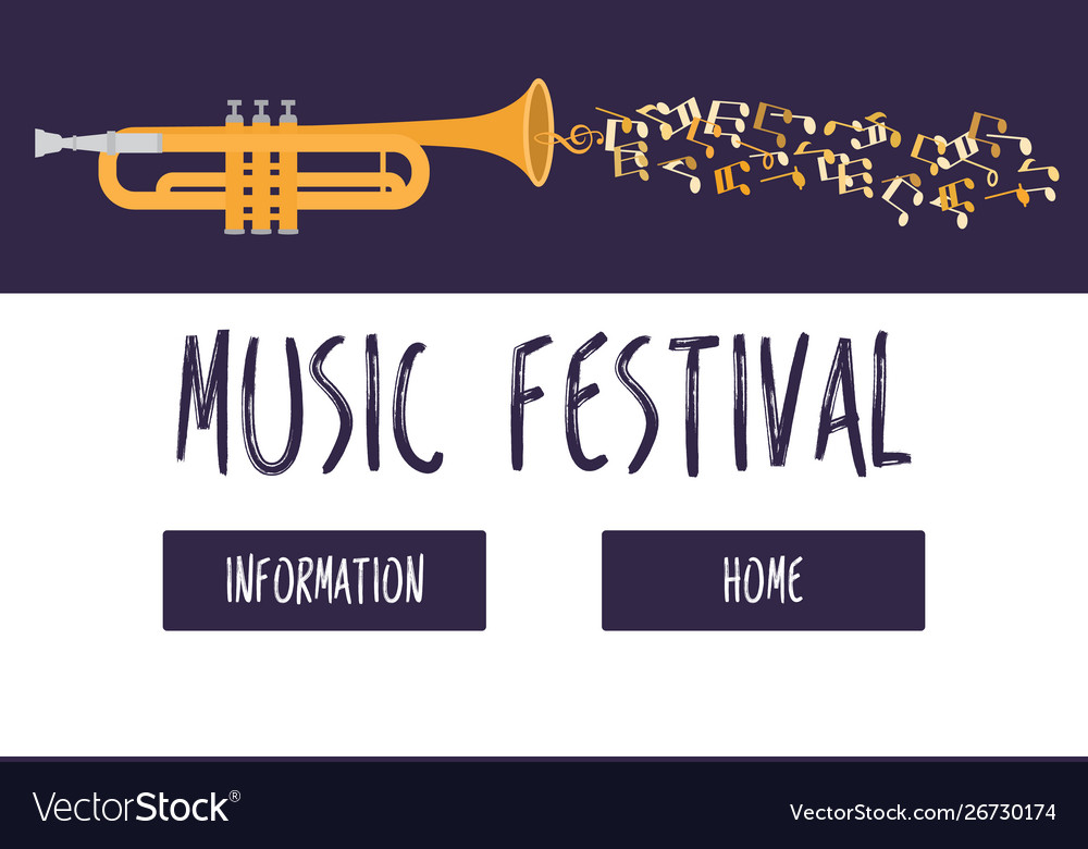 Jazz music festival or concert web template