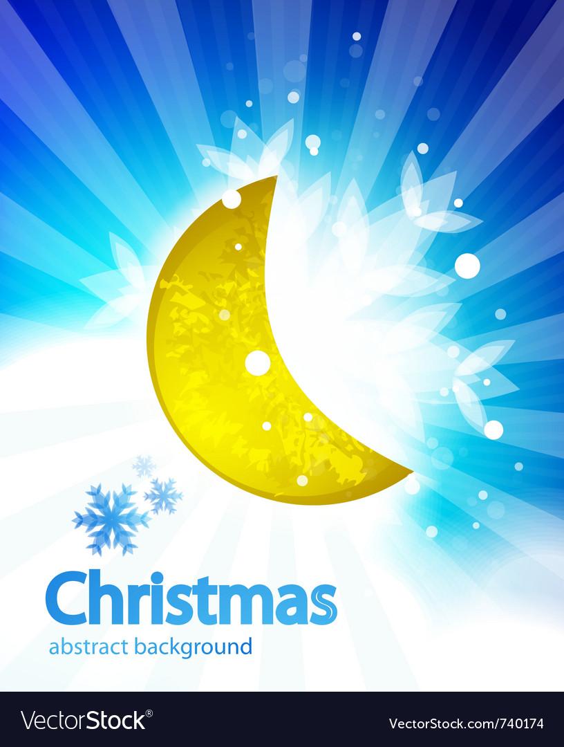 Moon christmas background