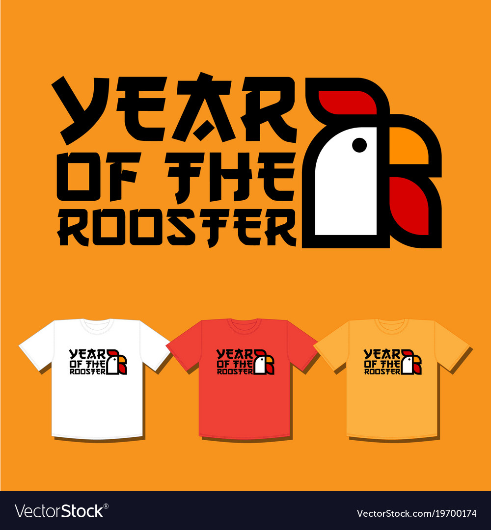 Rooster emblem or symbol chinese new year