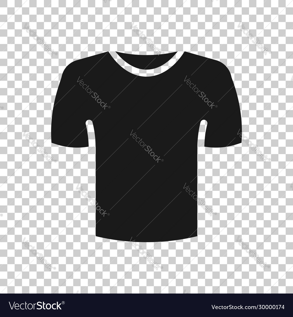 tshirt icon in flat style casual clothes on white vector image tshirt icon in flat style casual clothes on white vector image