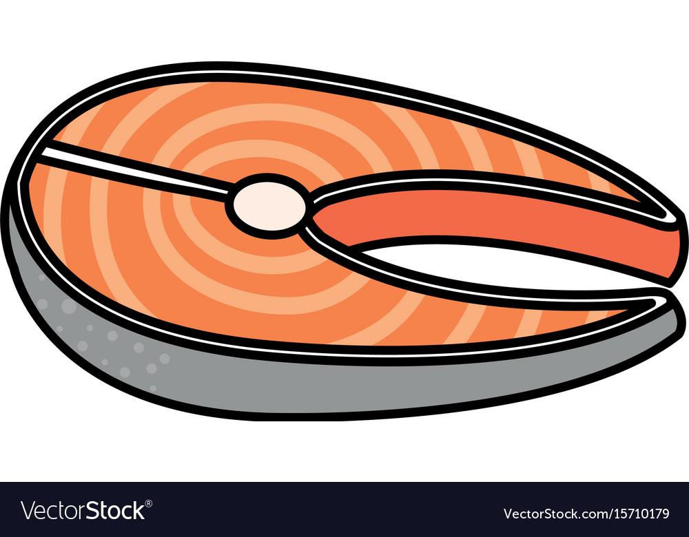 Fish steak fillet icon