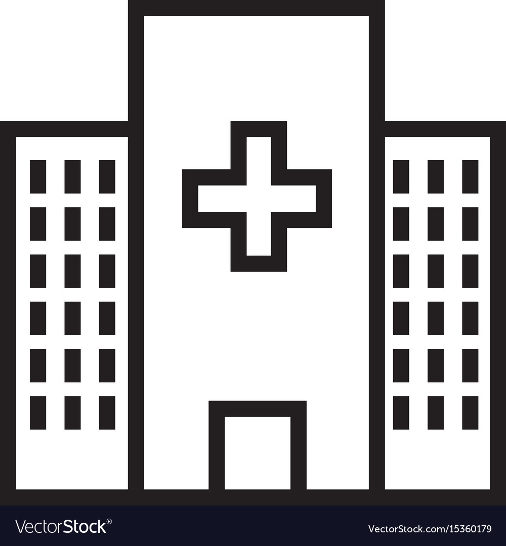 Thin line hospital icon vector image