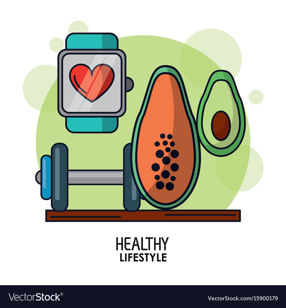 White background poster of healthy lifestyle with