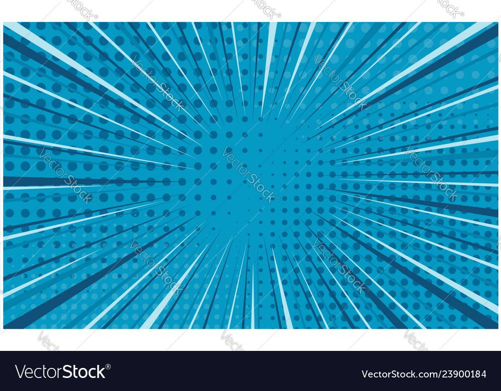 Bright blue striped retro comic background