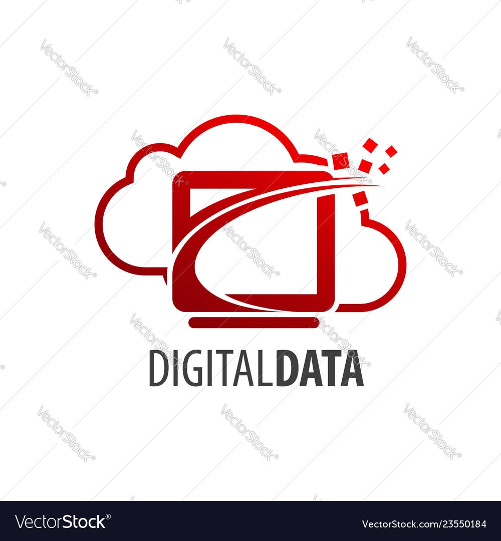 Digital data cloud screen logo concept design