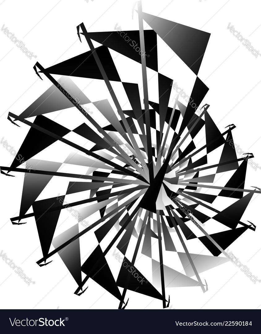 Geometric circular spiral abstract angular edgy