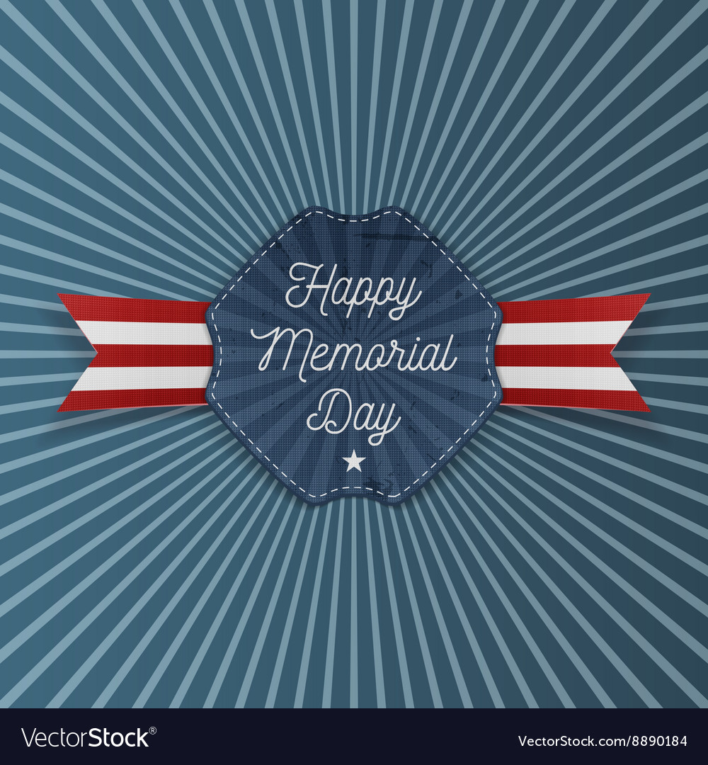 Happy Memorial Day Emblem with Text