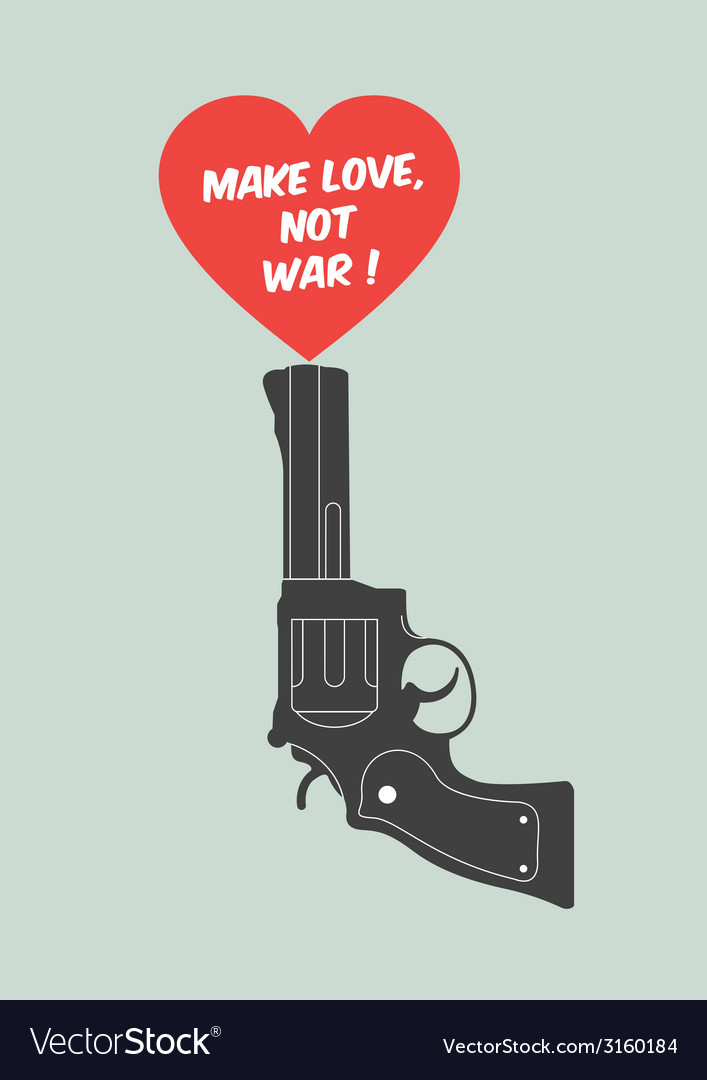 Quote poster make love not war