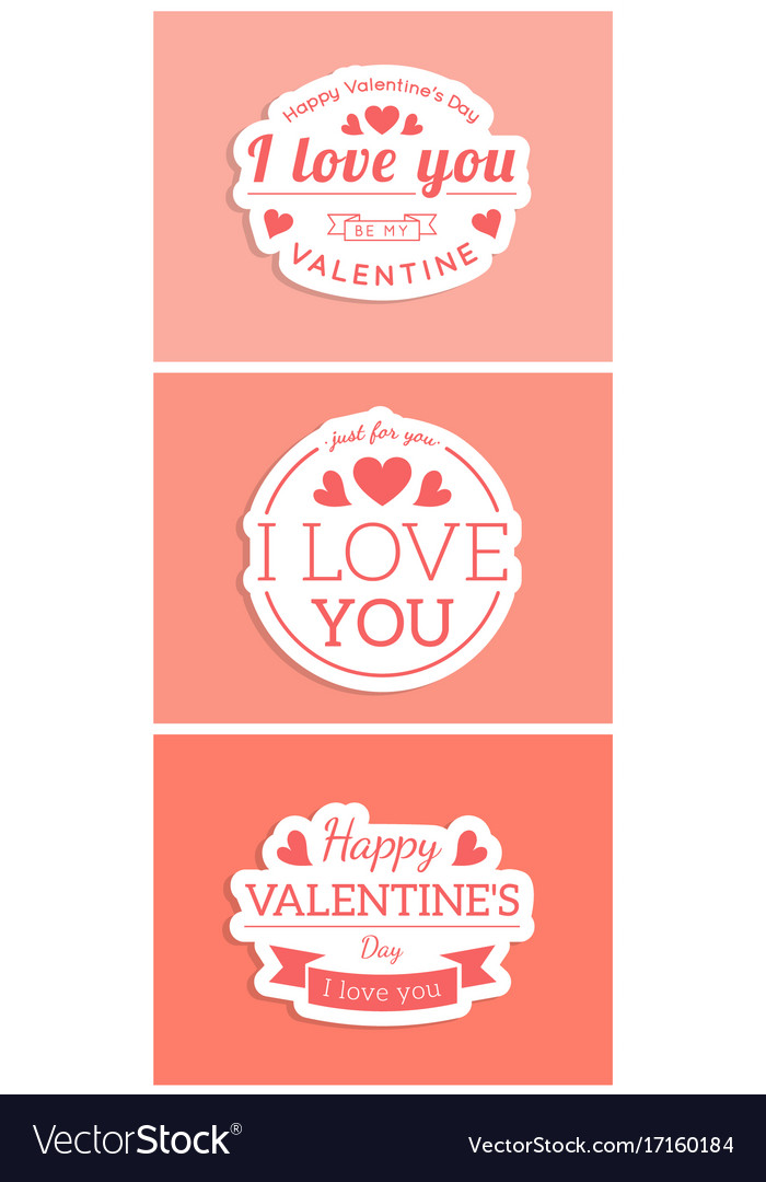 St Valentine Card Template Royalty Free Vector Image