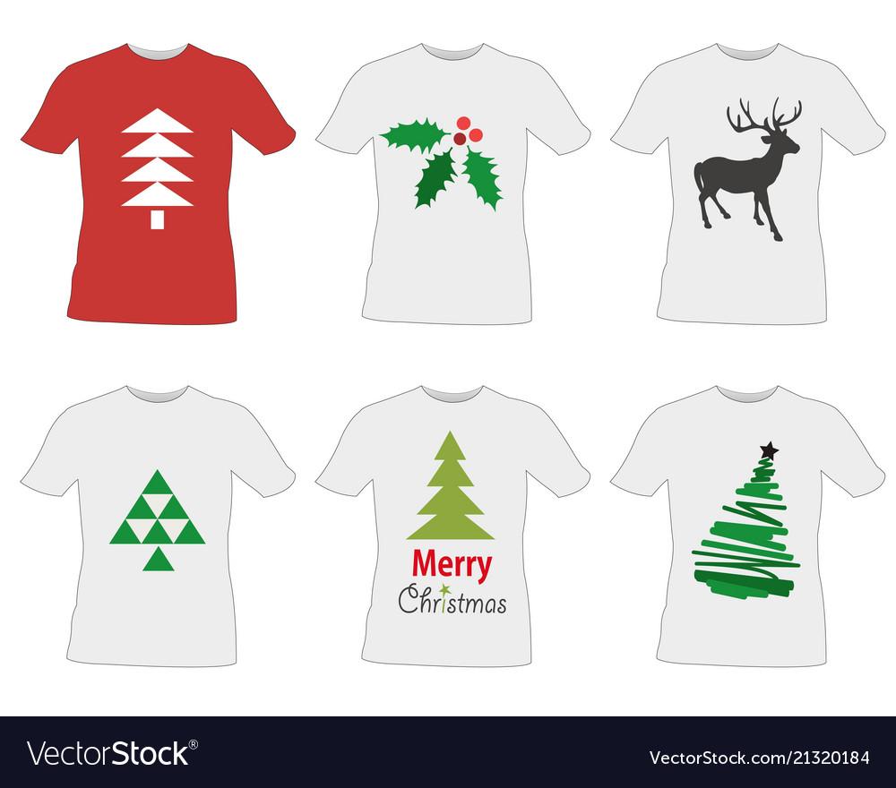 T Shirt Templates Design Royalty Free Vector Image