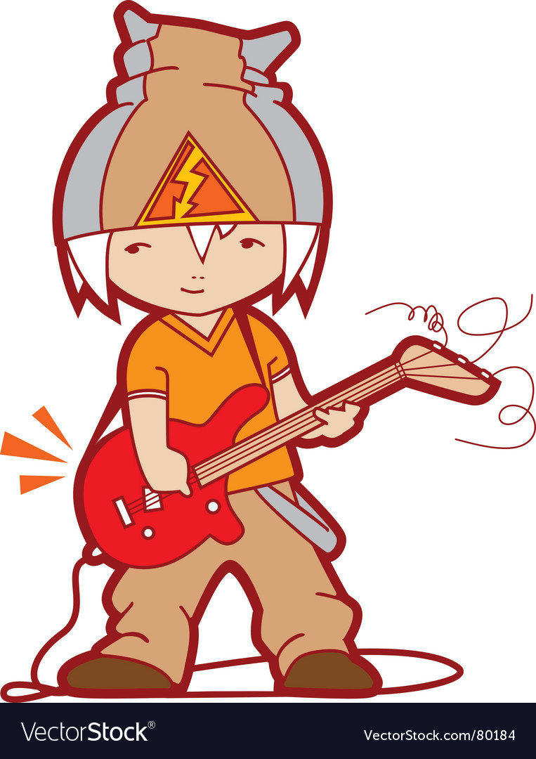 Young guitarist vector image