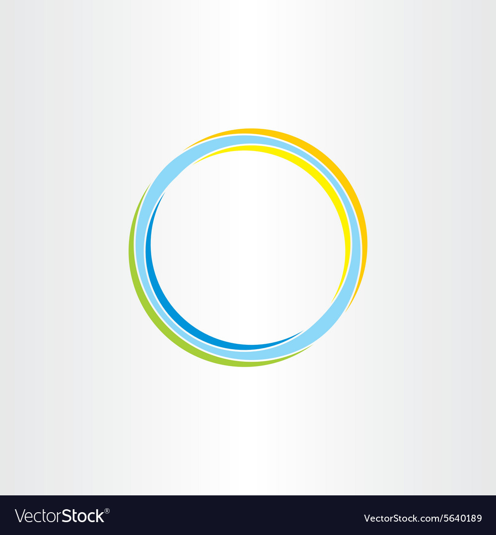 Abstract circle background colorful design element