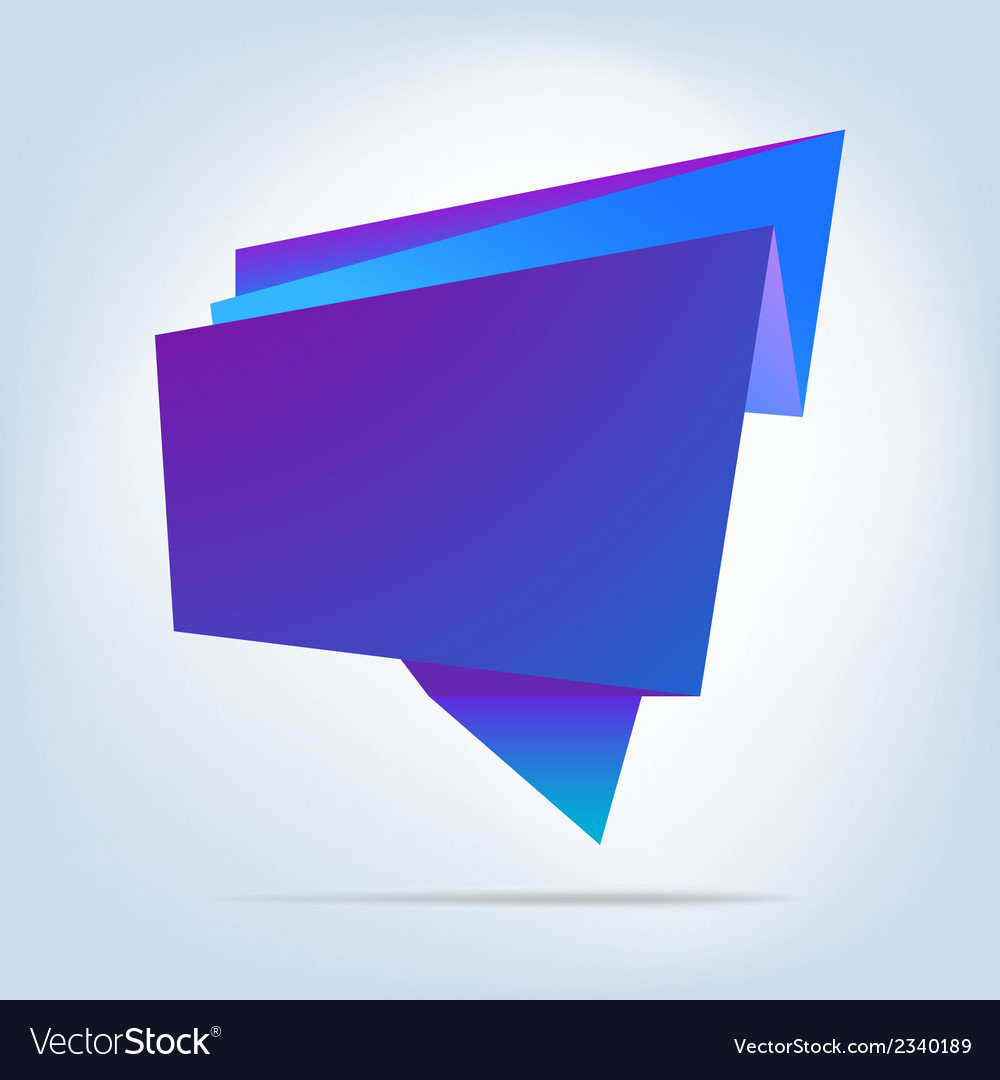 Abstract origami speech bubble EPS 8 vector image