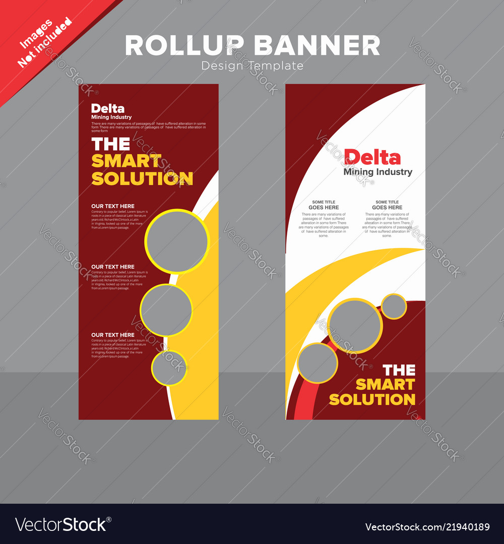 Creative Rollup Banner Design Template Royalty Free Vector