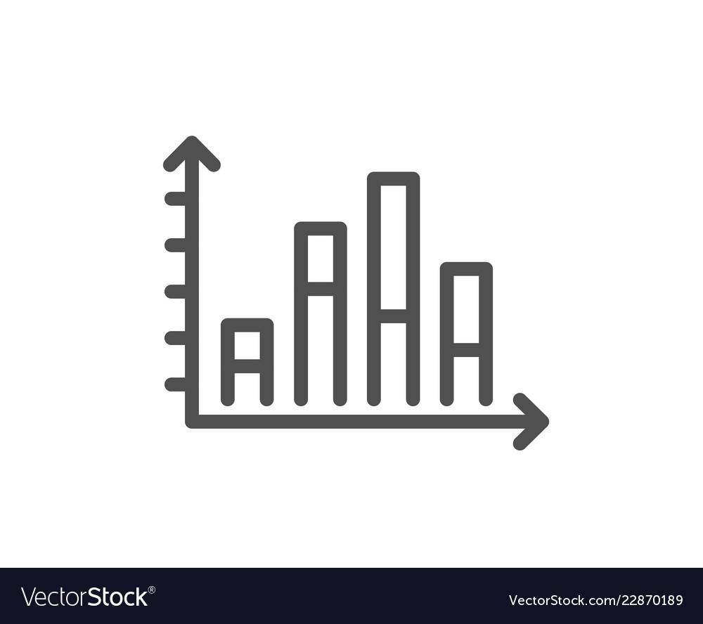 Diagram graph line icon column chart sign