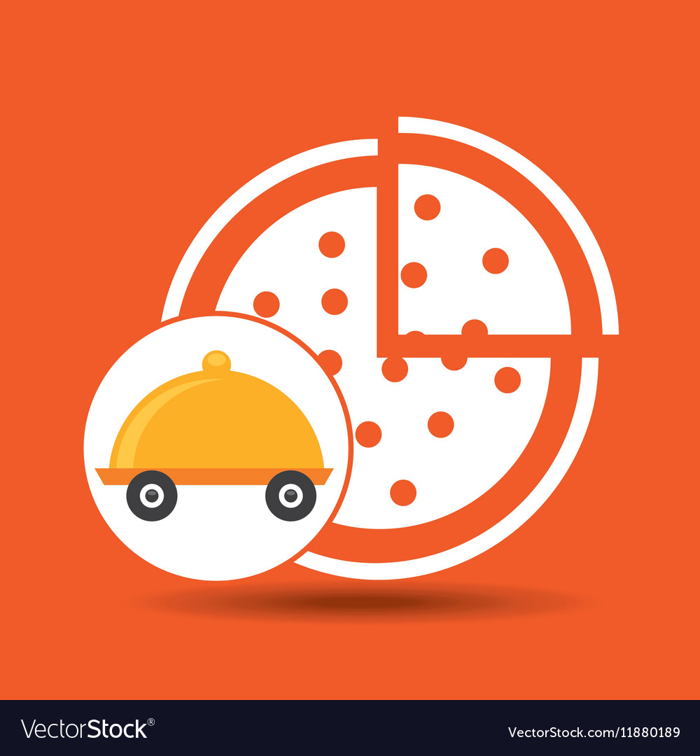 Fast delivery food pizza