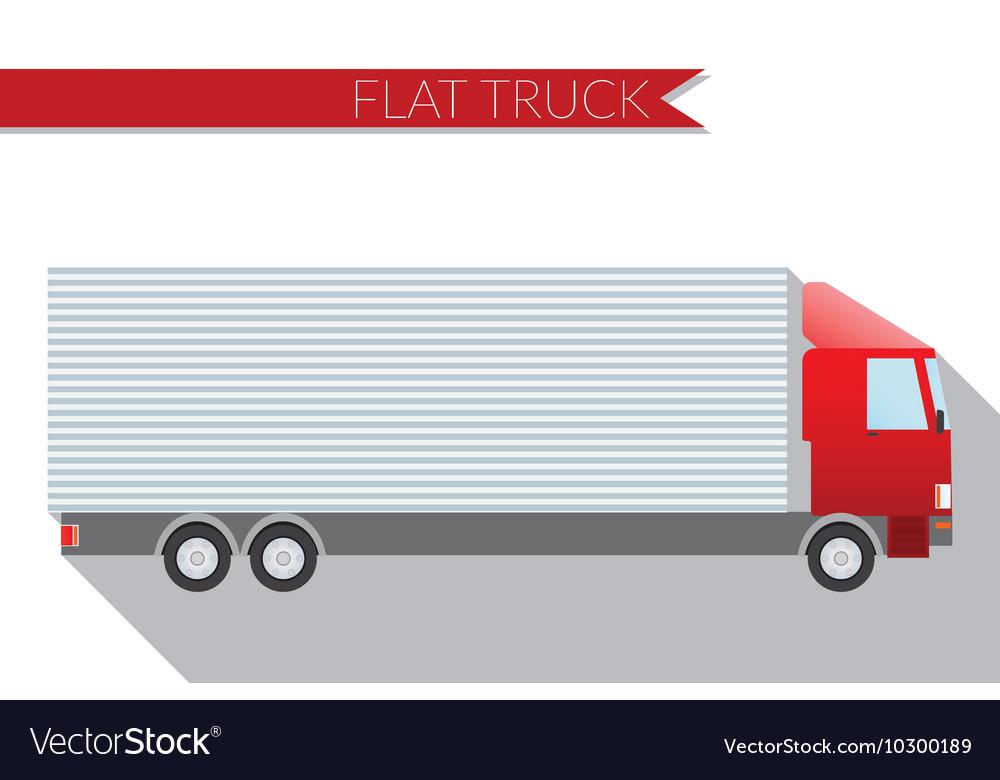 Flat design city Transportation truck for