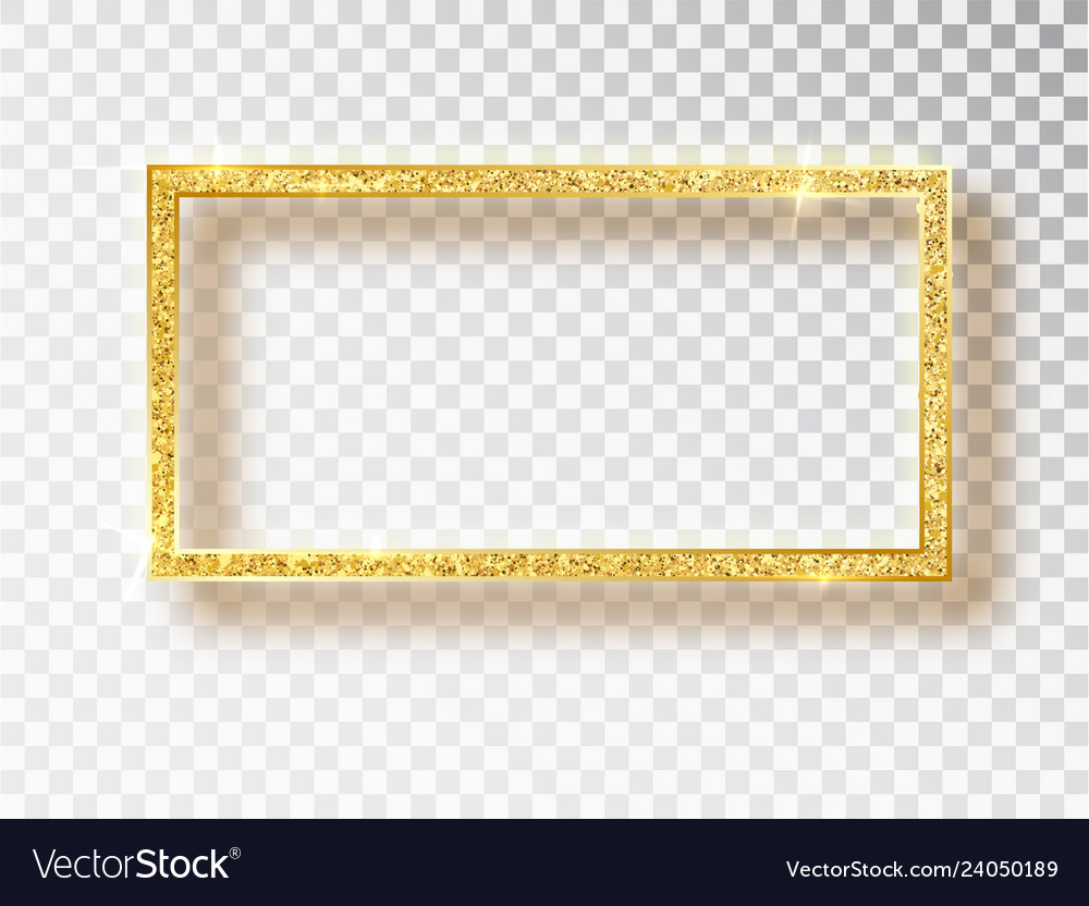 Gold shiny glowing frame gold banners with