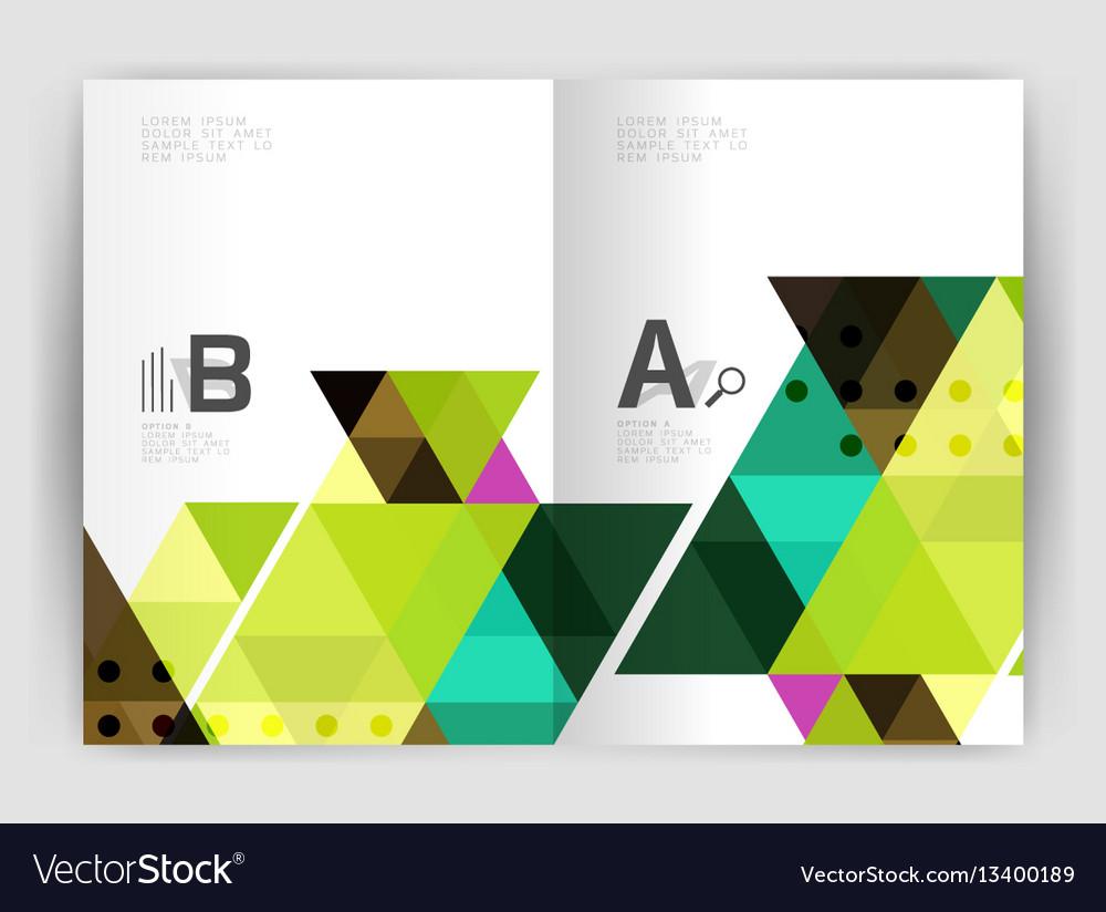 Modern business brochure or leaflet print cover