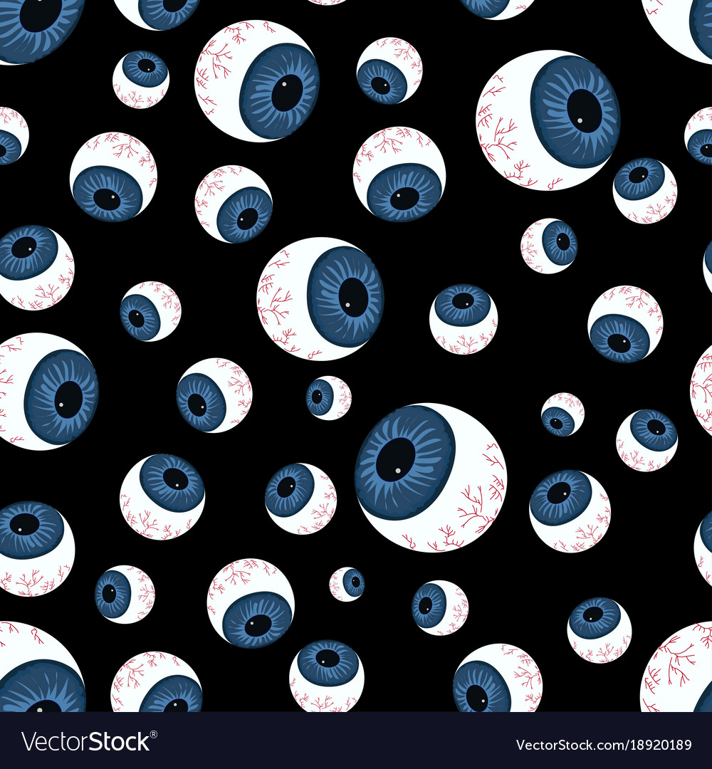 Pattern with creepy eyeballs vector image