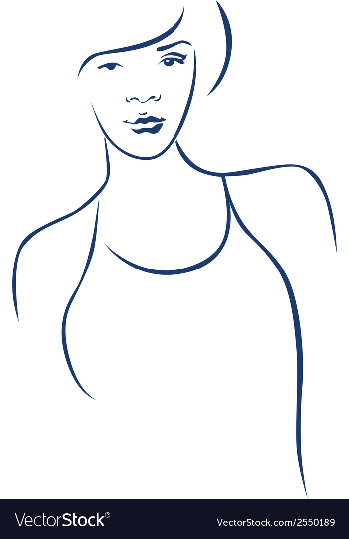 Portrait of young woman vector image