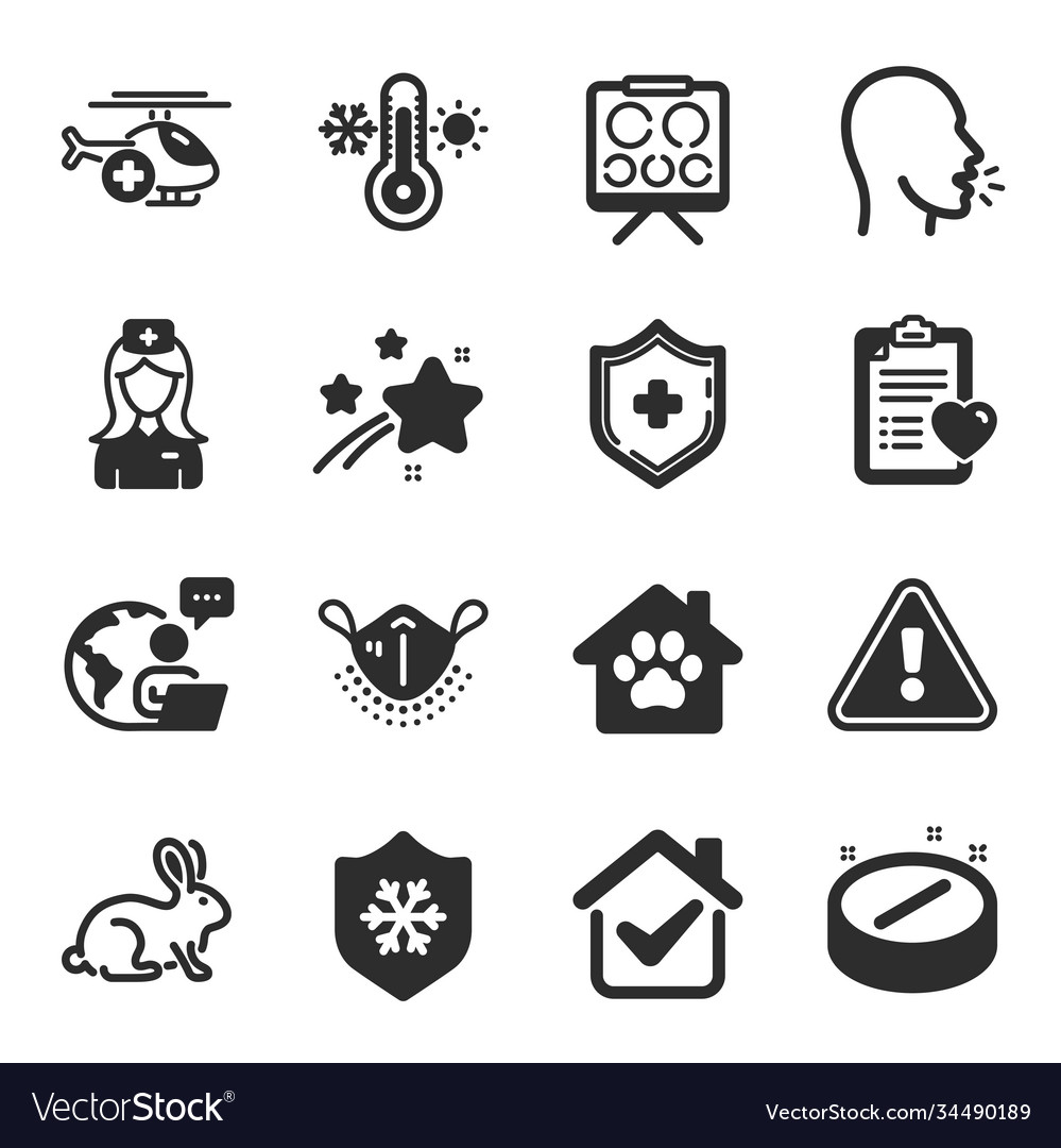 Set healthcare icons such as medical