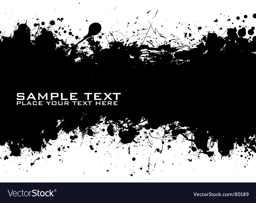 Text ink vector image