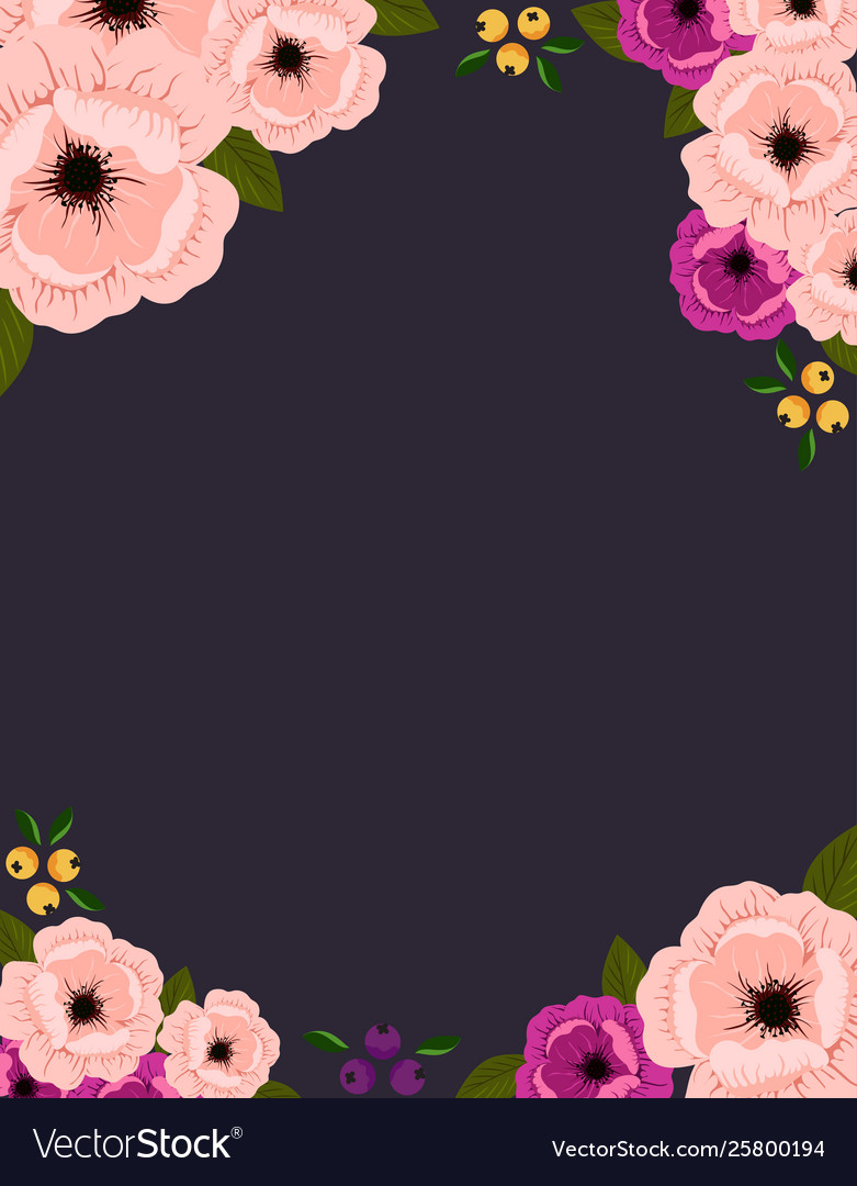 beautiful frame with flowers and leaves royalty free vector vectorstock